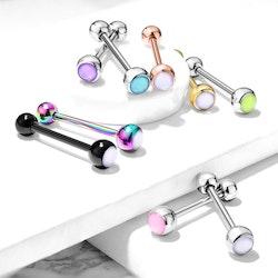 Tungpiercing med opal