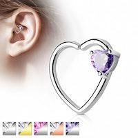 Segmentring hjärtformad med CZ sten