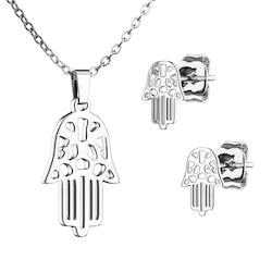 smyckes set 3 delar hamsa hand