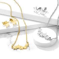 Smyckes set 3 delar med stjärnor