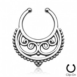 Fake septum med ornament