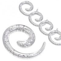 Spiral vit glitter