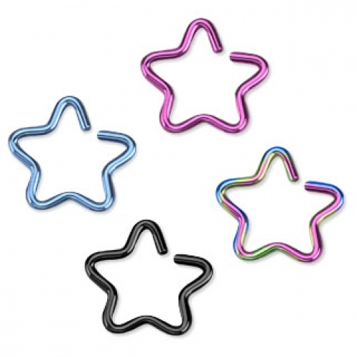 Fake piercing, stjärna till näsa / helix