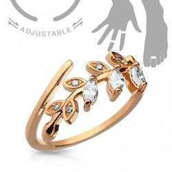 Vacker ring med löv