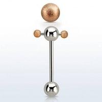 Tungpiercing ball spinner med exolerade bollar
