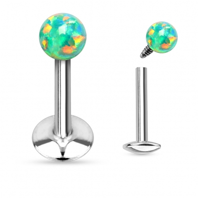 Labret/Monroe med opalboll