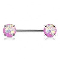 Bröstbarbell med opalstenar
