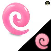 Rosa glow in dark spiral