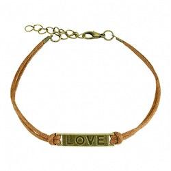 Armband med ordet love