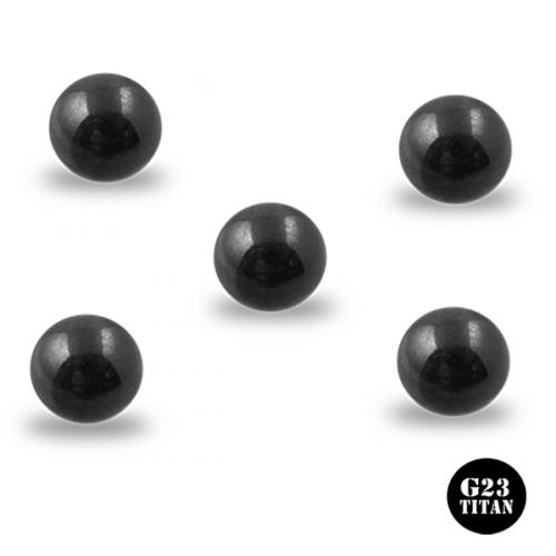 5-pack svart titan bollar