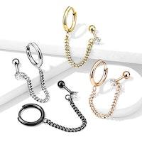 Örhängen och helix smycke