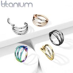 Piercingring G23 titan med 3 ringar