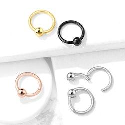 CBR ring / piercingring med fast boll