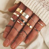 14 pack enkla stål ringar
