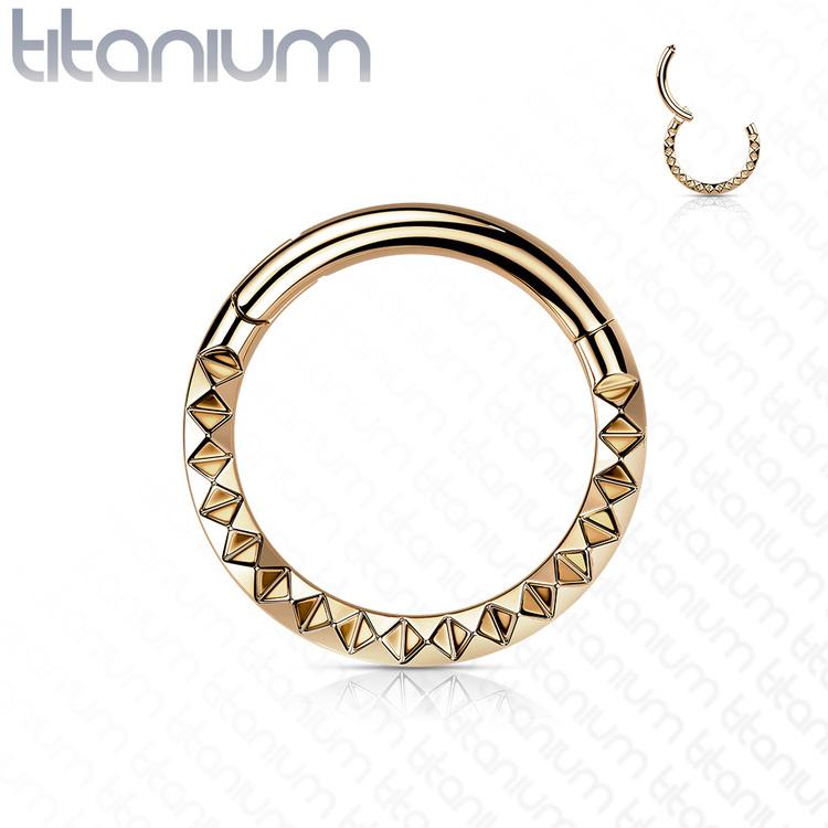 Hamrad piercingring i G23 titan
