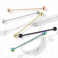 Industrial barbell twisted