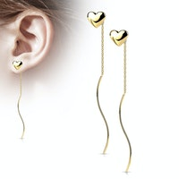 Örhängen med hjärtsnöre