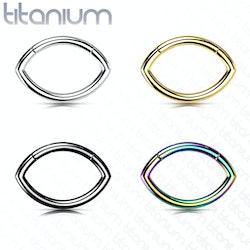 Oval G23 titan piercingring