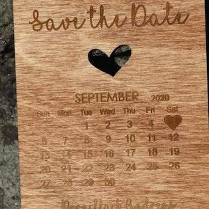 """""""Kalendern"""" Save the date - Bröllopsinbjudan"""