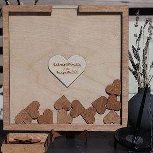 Gästbok - Dropbox med hjärtan - Personlig gravyr