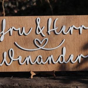 Personlig bröllopsskylt - Mr & Mrs - Herr och fru
