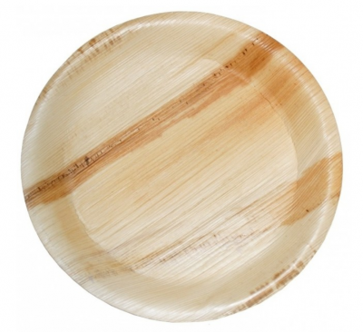 Runda Palmbladstallrikar - 25 cm (10 st)