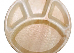 Runda Indelade Palmbladstallrika  - 25cm (10st)