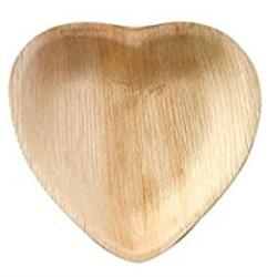 Hjärtformade Palmbladstallrikar - 18 cm (25 st)