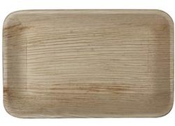 Rektangulära Palmbladstallrika -25cm (10st)
