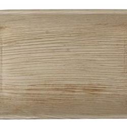 Rektangulära Palmbladstallrikar -25 cm (10 st)