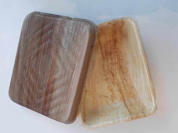 Palmbladsmatlåda med lock - 500 ml (10 st)