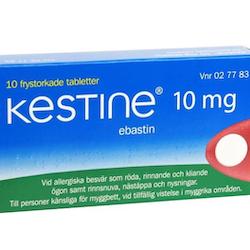Kestine frystorkad tablett 10 mg 10 st