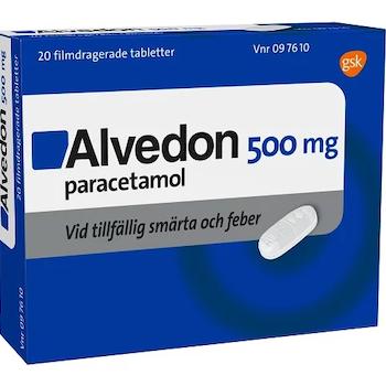Alvedon, filmdragerad tablett 500 mg, 20 st