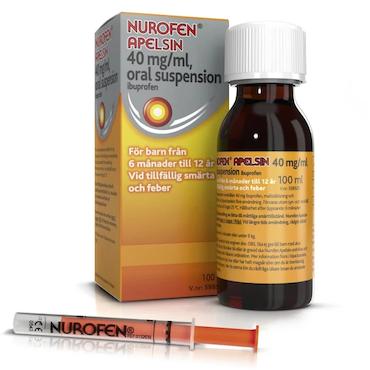 Nurofen Apelsin, oral suspension 40 mg/ml 100 ml