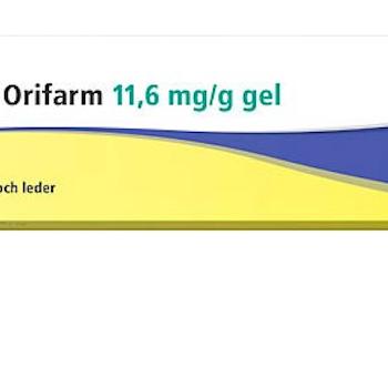 Diclofenac Orifarm, gel 11,6 mg/g 100 gr