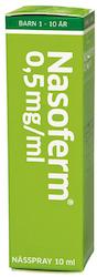Nasoferm, nässpray, lösning 0,5 mg/ml 10 ml
