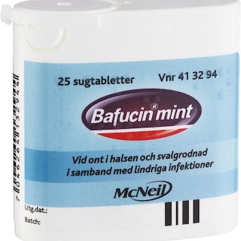 Bafucin Mint, sugtablett 25 st