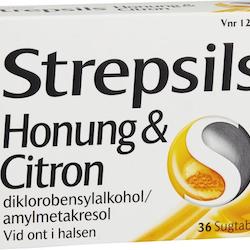Strepsils Honung & Citron, sugtablett 36 st