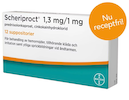 Scheriproct, suppositorium 1,3 mg/1 mg 12 st