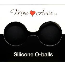 Mon Amie Silicone O-balls knipkulor svart