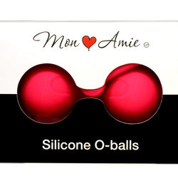 Mon Amie Silicone O-balls knipkulor rosa