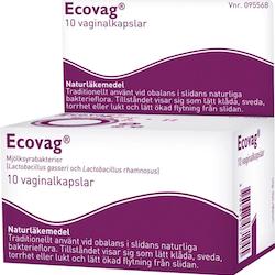 Ecovag, vaginalkapsel, hård 10 st