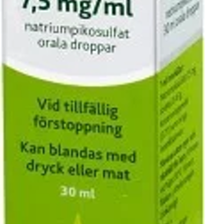 Laxoberal, orala droppar, lösning 7,5 mg/ml 30 ml