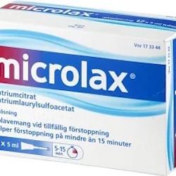 Microlax mikrolavemang 12 x 5 ml