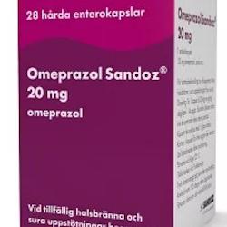 Omeprazol Sandoz, enterokapsel, hård 20 mg 28 st