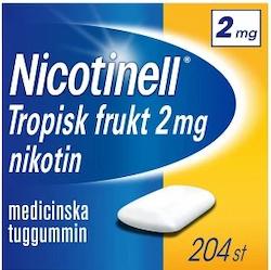 Nicotinell Tropisk frukt, medicinskt tuggummi 2 mg 204 st