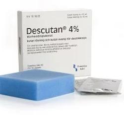 Descutan, kutan lösning och medicinerad svamp 4 % 4 x 15 ml