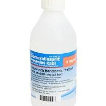 Klorhexidinsprit Fresenius Kabi, kutan lösning 5 mg/ml 250 ml