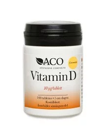 ACO Vitamin D 10 ṁg Citrussmak 100 tabletter