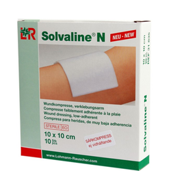 Solvaline N sårkompress 10 x 10 cm, 10 st